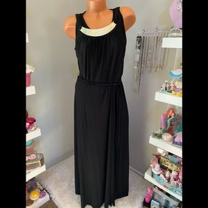Sexy Long Black Dress w/Built in Necklace 8